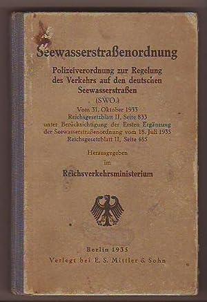 Seewasserstraßenordnung [=Umschlag-Titel] Polizeiverordnung zur Regelung des Verkehrs