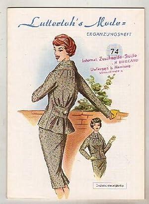 Lutterloh`s Mode - Ergänzungshefte, Nr. 74.