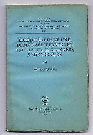 Elebnisgehalt und ideelle Zeitverbundenheit in Fr. M.: Zempel, Heinrich: