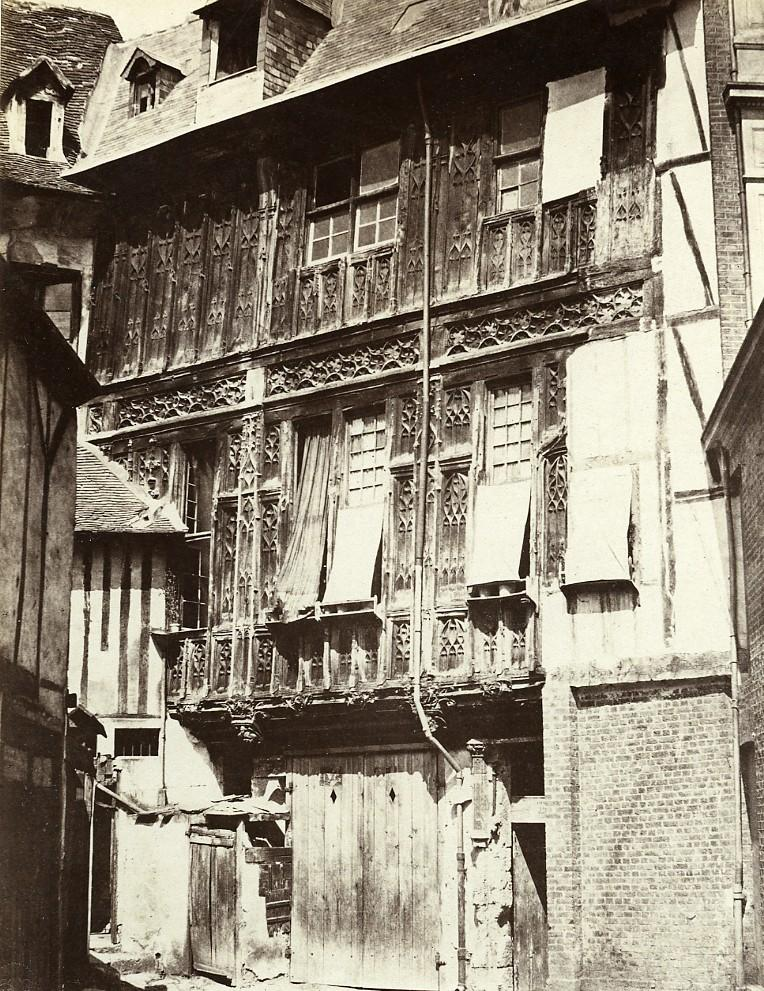 Rouen_remains_of_the_Abbey_of_St_Amand_France_Old_Photo_Bisson_1858_Frères_BISSON__