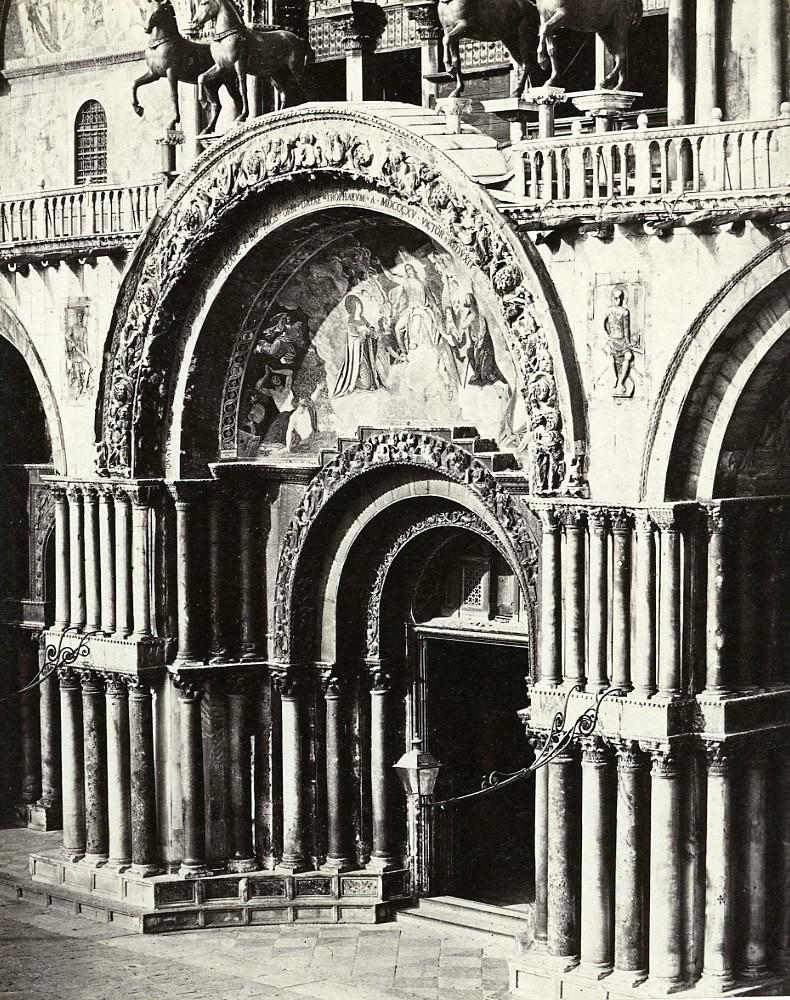 Venice_St._Mark's_Gate_Central_Facade_Italy_Old_Photo_Bisson_1858_Frères_BISSON_[_]