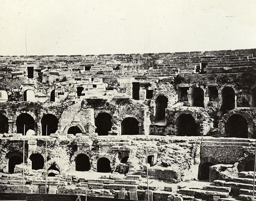 France_Nimes_Nismes_Arena_without_Public_Old_Photo_Bisson_1857_Frères_BISSON_[_]