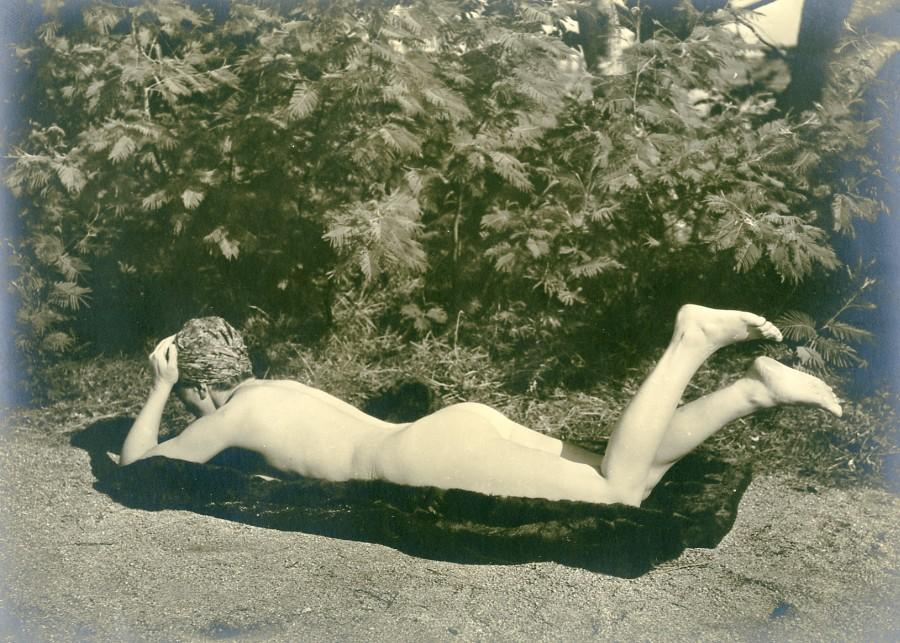 France Woman Nude Study Risque Old Photo 1930 Anonymous