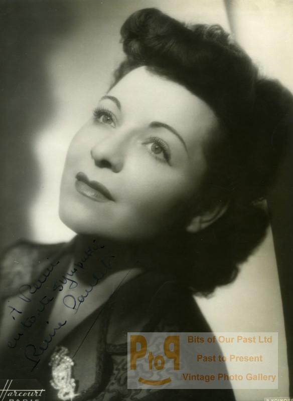Actress_Reine_Paulet_Cinema_Autograph_Old_Voinquel_Harcourt_Photo_1940_Raymond_VOINQUEL__