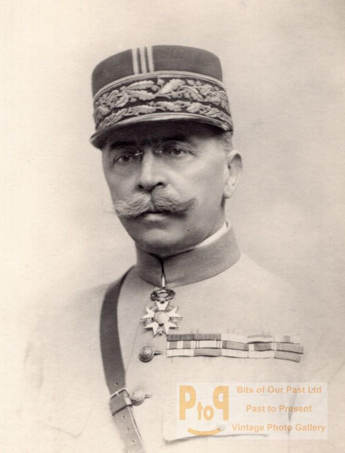 French_Army_General_Albert_Ditte_Portrait_Autograph_Old_Photo_1910's_ANONYMOUS_[_]