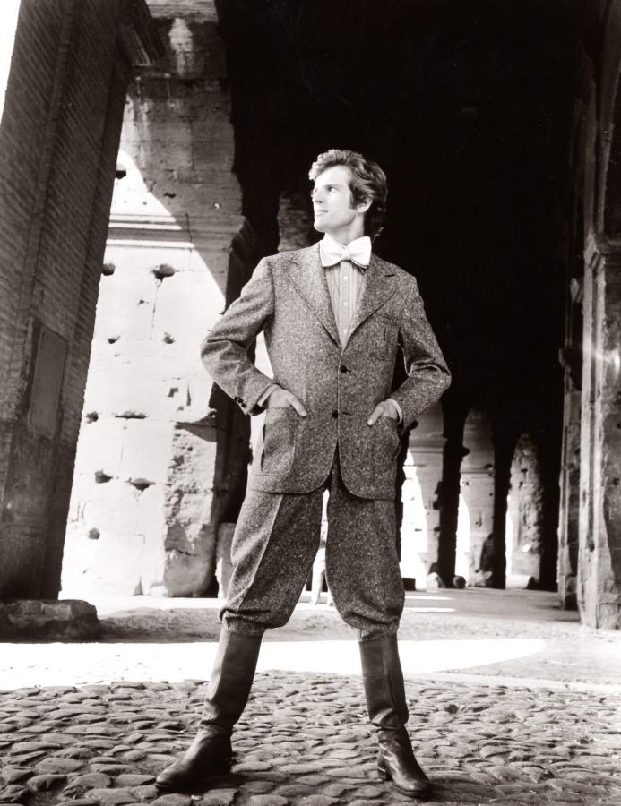 Rome Coliseum 1970's Men Fashion J.P. Stevens Textile old Photo Vintage publicity/promotional photograph. *** Date : ca 1970 *** Location/Lieu : Italy, Rome *** Categories : Italy - Fashion, Men *** Silver print, G
