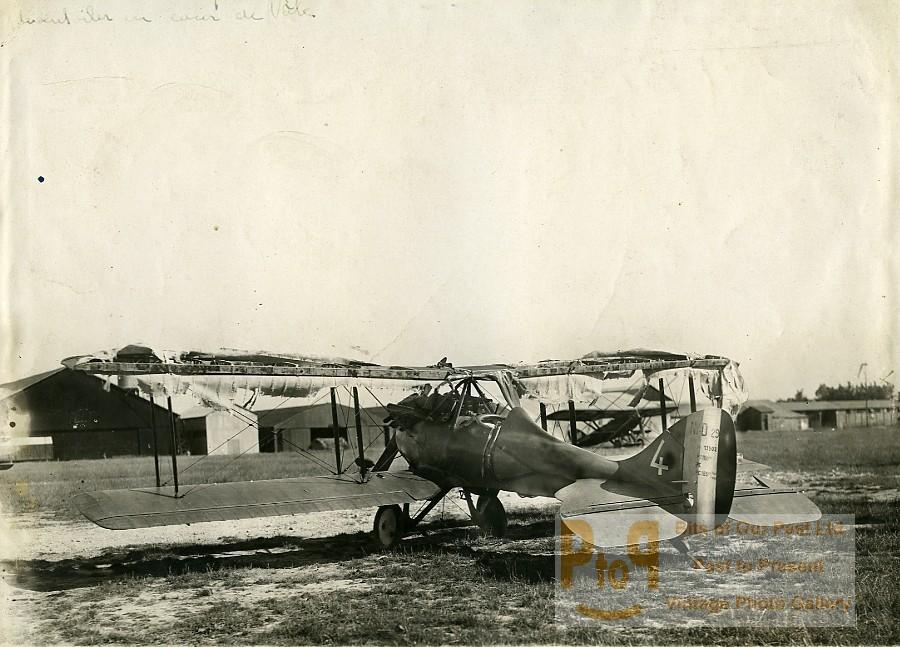 France Parçay-Meslay Airfield Nieuport Delage NiD.29 torn canvas Old Photo 1928 ANONYMOUS