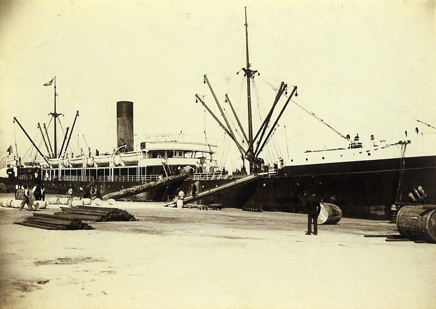France_Le_Havre_French_Line_Le_Louisiane_unloading_Old_Photo_Villeneuve_1900_A_VILLENEUVE_Paris__