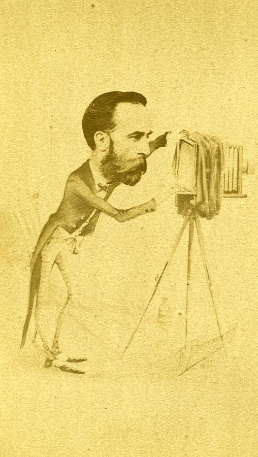 Perigueux_Photographer_caricature_Edmond_Boulle_Old_CDV_Photo_1870____