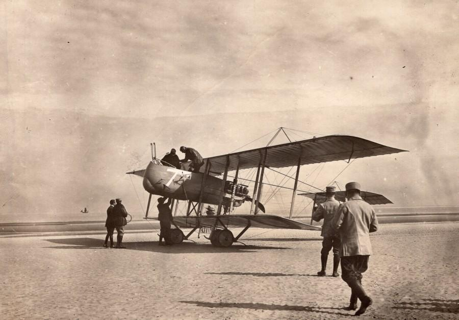 France_WWI_Military_Aviation_Voisin_or_Farman_Pusher_Biplane_old_Photo_19141918_ANONYMOUS__