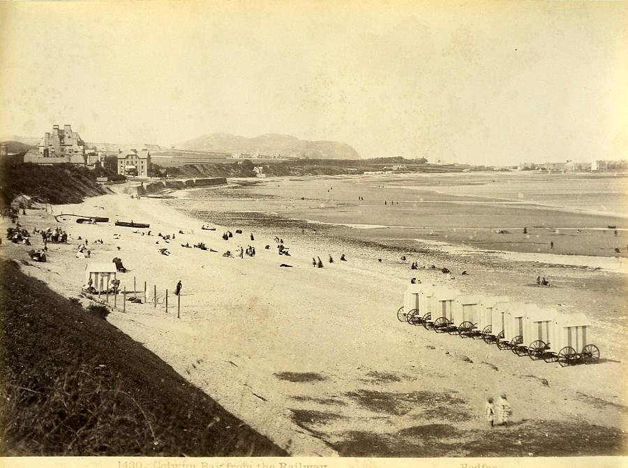 Wales_Colwyn_bay_from_the_Railway_Beach_Huts_Old_Photo_Bedford_circa_1870_Francis_BEDFORD__