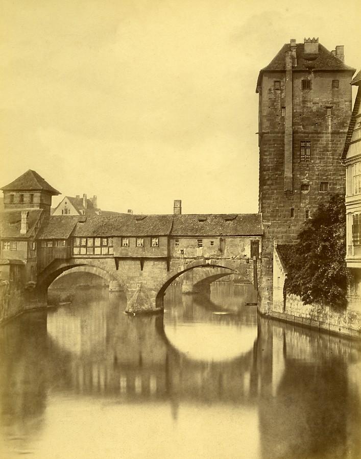 Germany_Nuremberg_Inhabited_Bridge_Henkersteg_Old_Photo_circa_1868_ANONYMOUS__