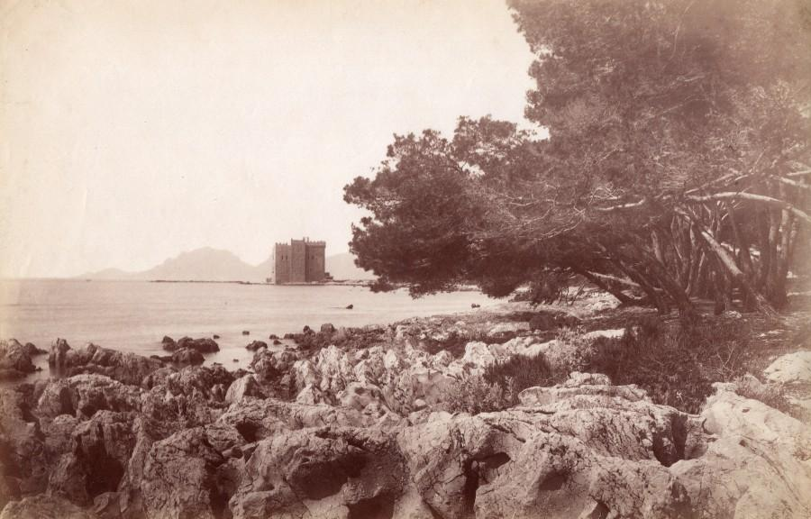 French_Riviera_Cannes_Ile_Saint_Honorat_Monastery_Old_Jean_Gilletta_Photo_1880_Jean_GILLETTA__