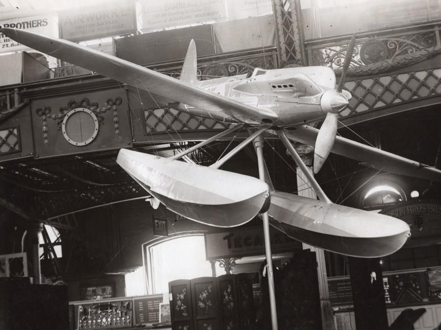 Aviation_London_Olympia_Airshow_Supermarine_Seaplane_old_Photo_1929_NEWS_SERVICE_(Misc)_[_]