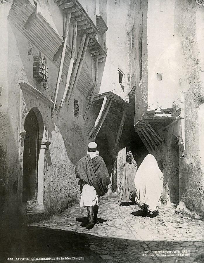 Algeria_Algiers_Casbah_Red_Sea_Street_Old_Photo_Leroux_1900_A_LEROUX__