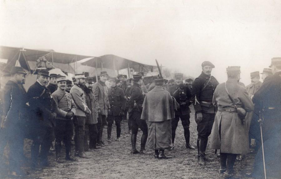 France_Military_Aviation_Inspection?_Officers_old_Photo_1910's_ANONYMOUS_[_]