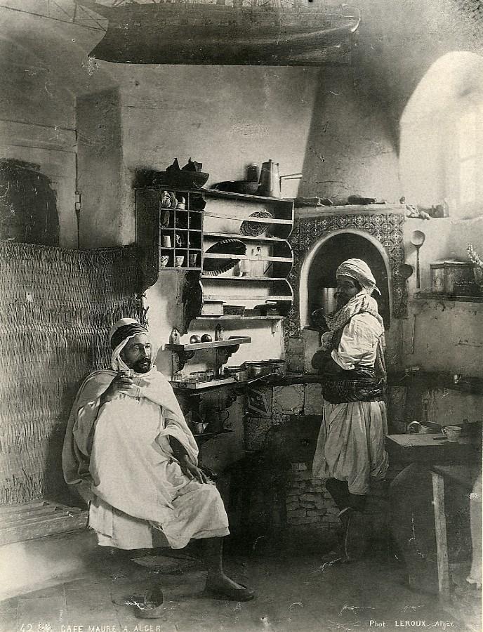Algeria_Algiers_Moorish_coffee_shop_Café_Old_Photo_Leroux_1900_A_LEROUX__
