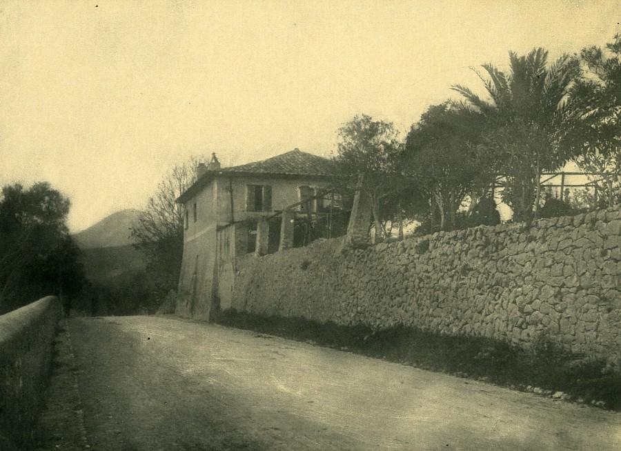 France_Alpes_Maritimes_Nice_House_Stone_Wall_Old_Pictorialist_Photo_c1900_ANONYMOUS__
