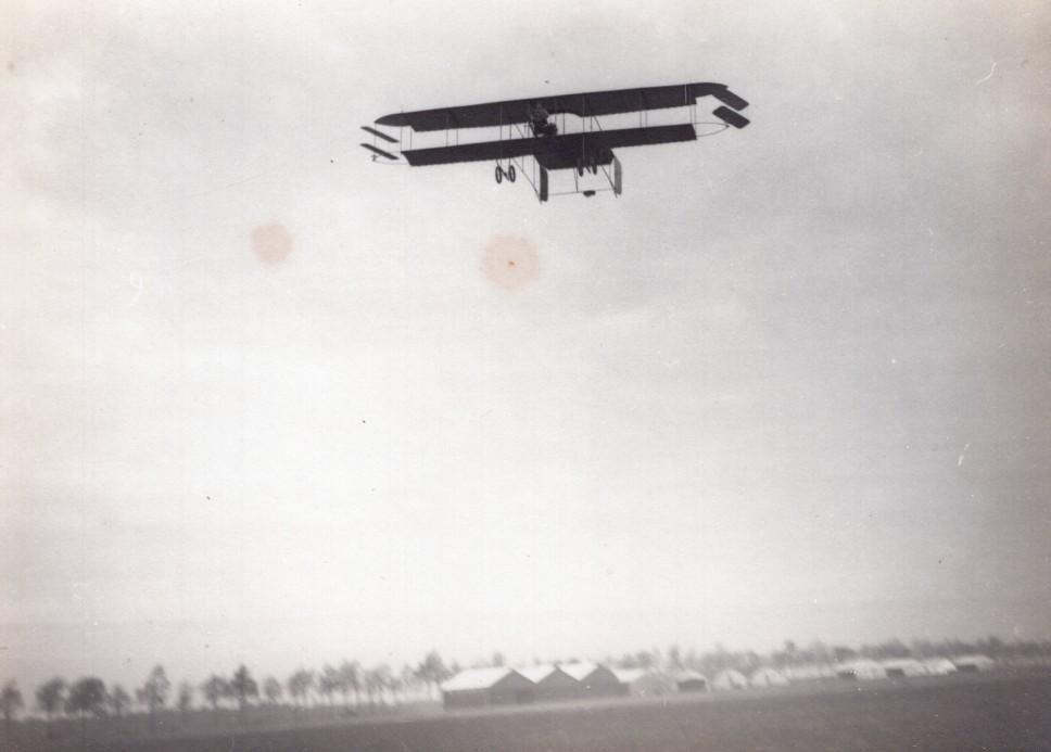 France_Buc_Aviation_Bronislawski_Biplane_in_Flight_old_Photo_1911_ANONYMOUS__