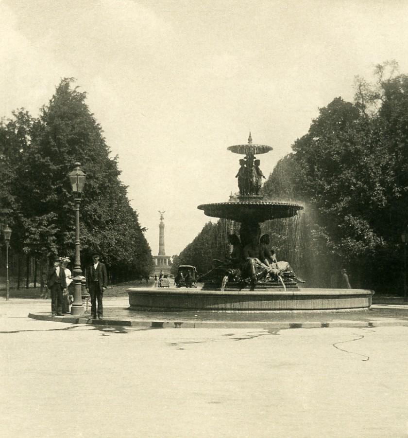 Germany_Berlin_Tiergarten_Wrangelbrunnen_Fountain_Old_Stereoview_Photo_NPG_1900_NPG_Neue_Photographische_gesellschaft__