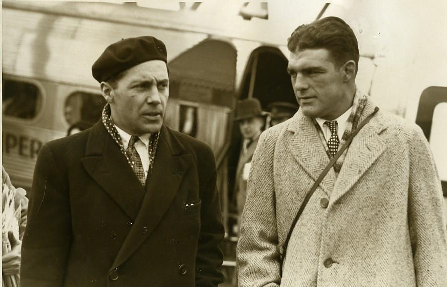 France_Le_Bourget_American_boxer_Young_Stribling_Jeff_Dickson_old_Photo_1933_NEWS_SERVICE_(Misc)_[_]