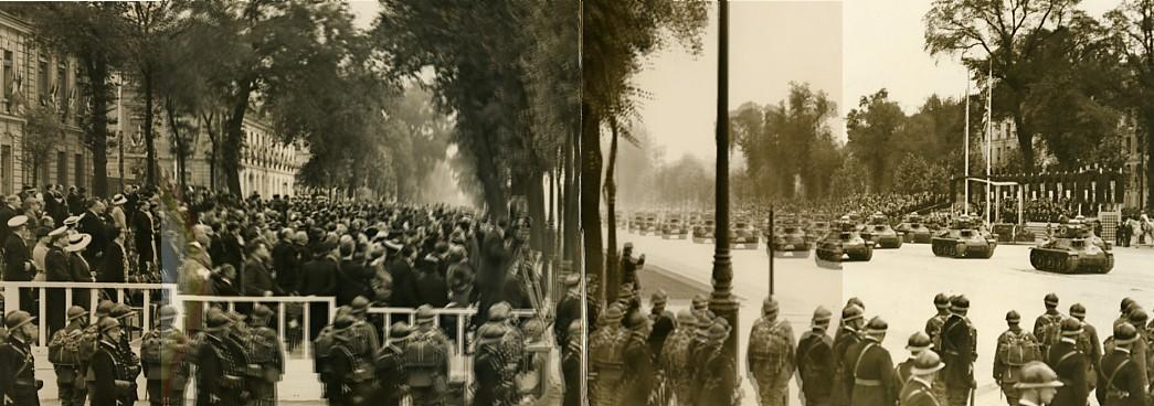 France_Versailles_Military_parade_in_front_of_George_VI_old_Photo_Panorama_1938_Charles_TRAMPUS_[_]
