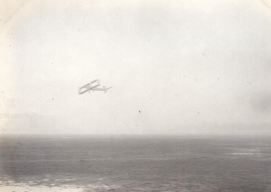 France_Aviation_Voisin_Biplane_in_Flight_old_Photo_circa_1910_ANONYMOUS_[_]
