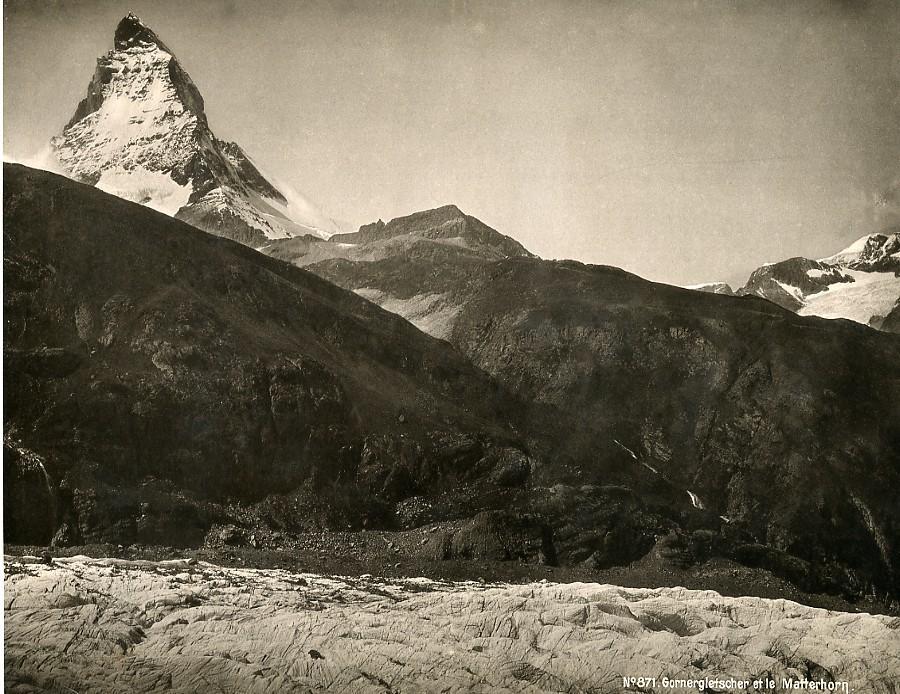Switzerland_Gorner_Glacier_&_Matterhorn_Mountain_old_Photo_1890____