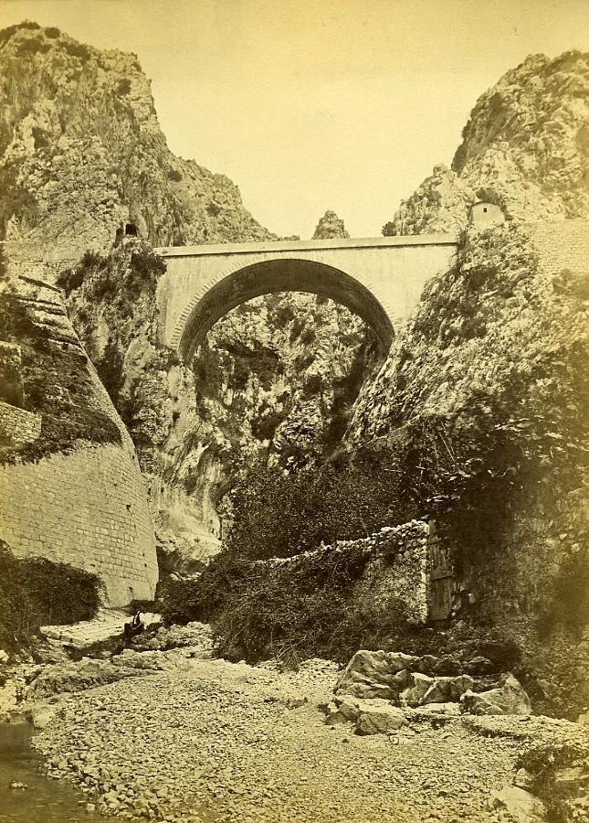 France_Menton_Pont_St_Louis_Bridge_Italian_Border_old_Photo_1880____