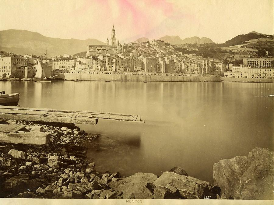 France_Menton_Town_&_Port_Panorama_French_Riviera_old_Photo_1880___[_]