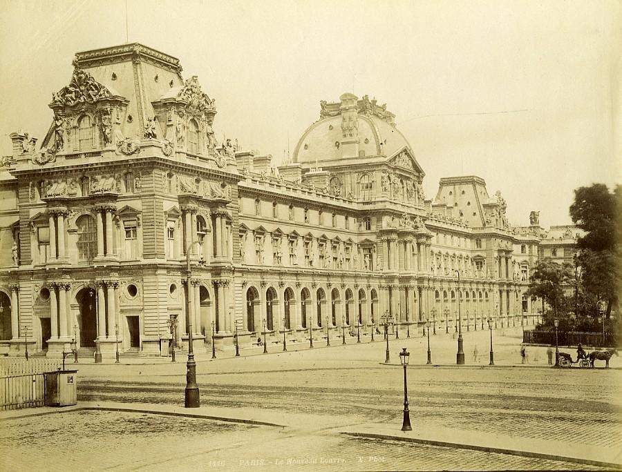 France_Paris_New_Louvre_Palace_Façade_old_Photo_1880_X_Studio__