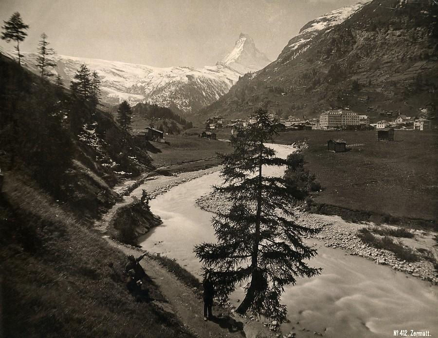 Switzerland_Zermatt_panorama_River_Mountain_old_Schroeder_Photo_1880_SCHROEDER_&_Cie__
