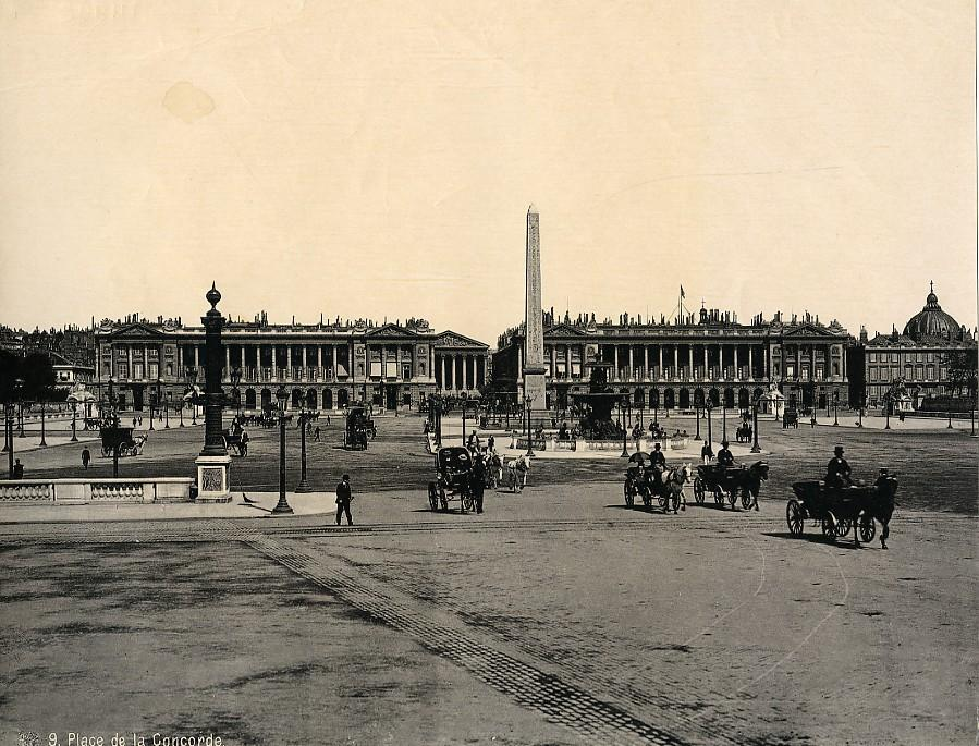 France_Paris_Busy_Concorde_Place_Horse_cars_old_Photo_1890____