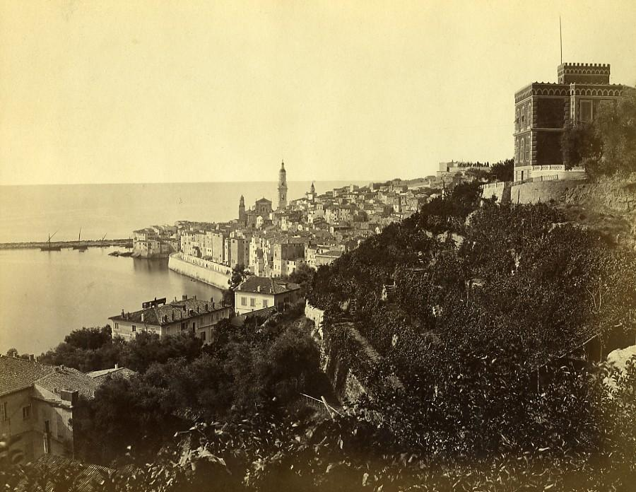 France_Menton_Town_&_Port_Panorama_old_Photo_1880___[_]