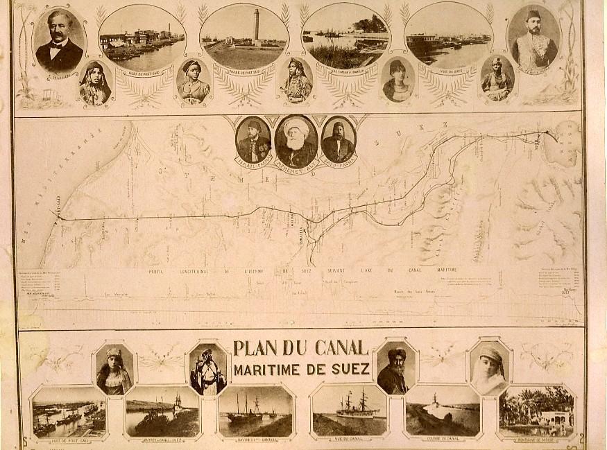 Egypt_Map_of_Suez_Canal_&_Kantara_Bridge_Old_Photo_Zangaki_1890_ZANGAKI__