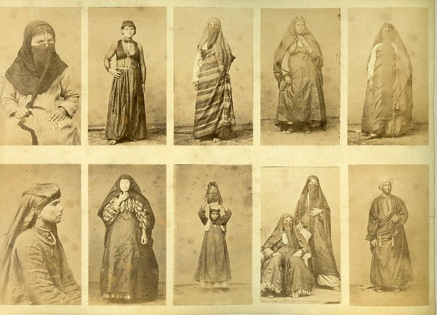 Egypt_Female_portraits_traditional_costume_&_Suez_Canal_Views_Old_Photo_1890_ANONYMOUS__