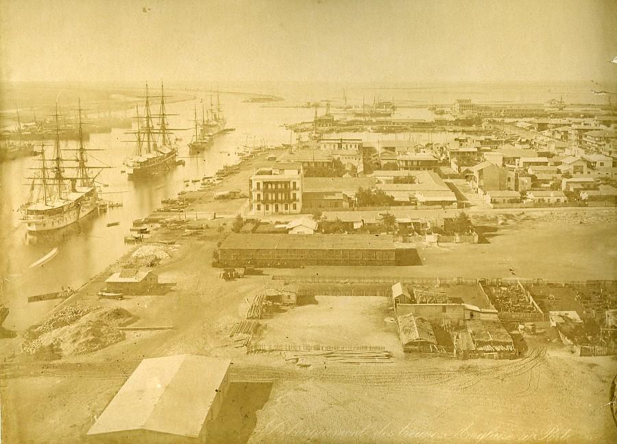 Egypt_Suez_Canal_British_Troops_landing_in_Port_Saïd_Old_Photo_Zangaki_1882_ZANGAKI__