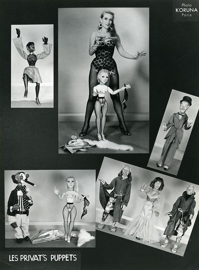France_Jany_Privat_Puppets_Puppeteer_Striptease_Bar_old_photo_Koruna_1962_Paul_KORUNA__