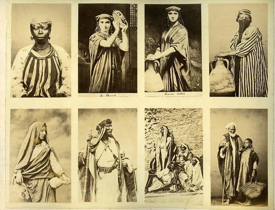 Egypt_Female_and_Male_portraits_traditional_costume_Veiled_Woman_Old_Photo_1890_ZANGAKI__