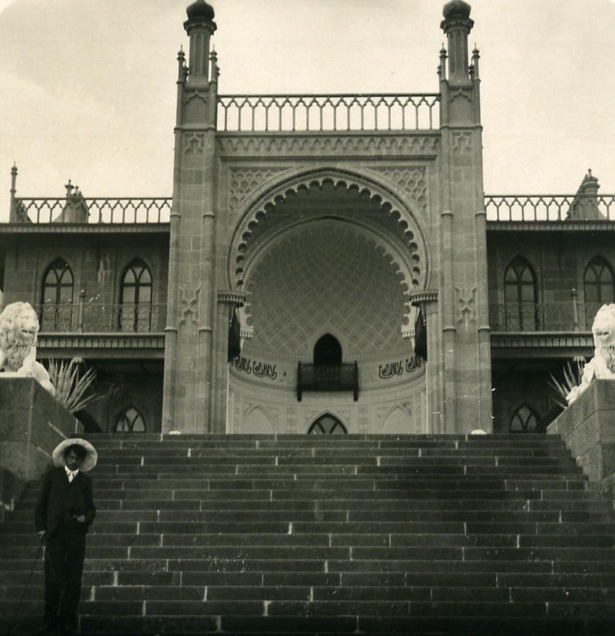 Russia_Crimea_Alupka_Vorontsov_Palace_Alhambra_Old_NPG_Stereo_Photo_1900_NPG_Neue_Photographische_gesellschaft__