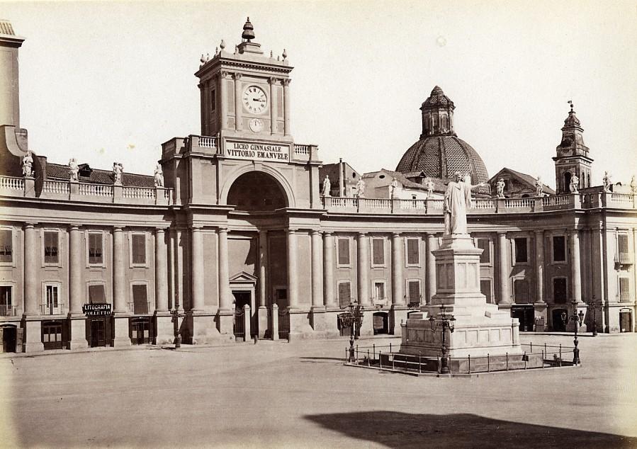 Italy_Naples_Napoli_Dante_Monument_old_Photo_Giorgio_Sommer_1870_Giorgio_Sommer__