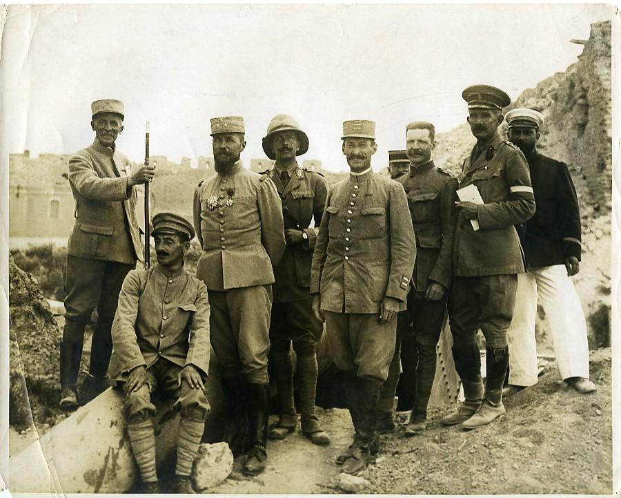 Ottoman_Empire_WWI_General_Gouraud_&_Bailloud_at_Sedd_el_Bahr_old_photo_1915_NEWS_SERVICE_Misc__