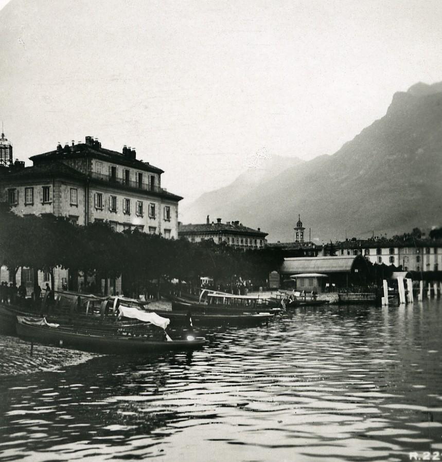 Switzerland_Lake_Lugano_Pier_Boats_Old_Stereoview_Photo_1906_ANONYMOUS__