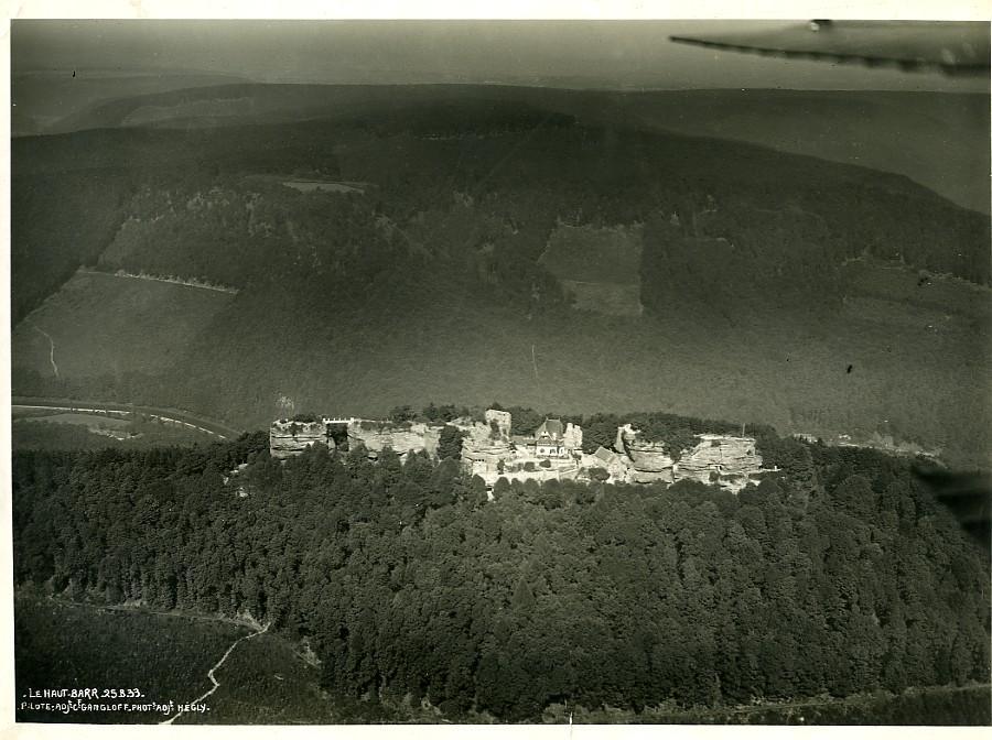 France_Alsace_Panorama_HautBarr_Hohbarr_Castle_Old_Aerial_Military_Photo_1933____