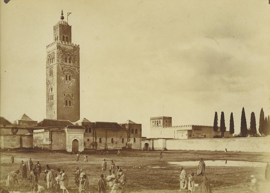 Morocco_Marrakech_Koutoubia_Mosque_Old_Photo_Felix_1915_FELIX__