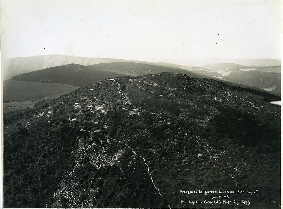 France_Alsace_Remains_of_WWI_at_Le_Bonhomme_Old_Aerial_Military_Photo_1933____