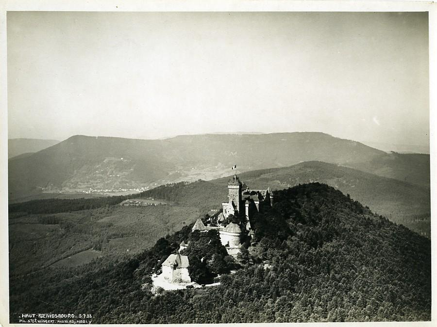 France_Alsace_Panorama_Haut_Koenigsbourg_castle_Old_Aerial_Military_Photo_1933____