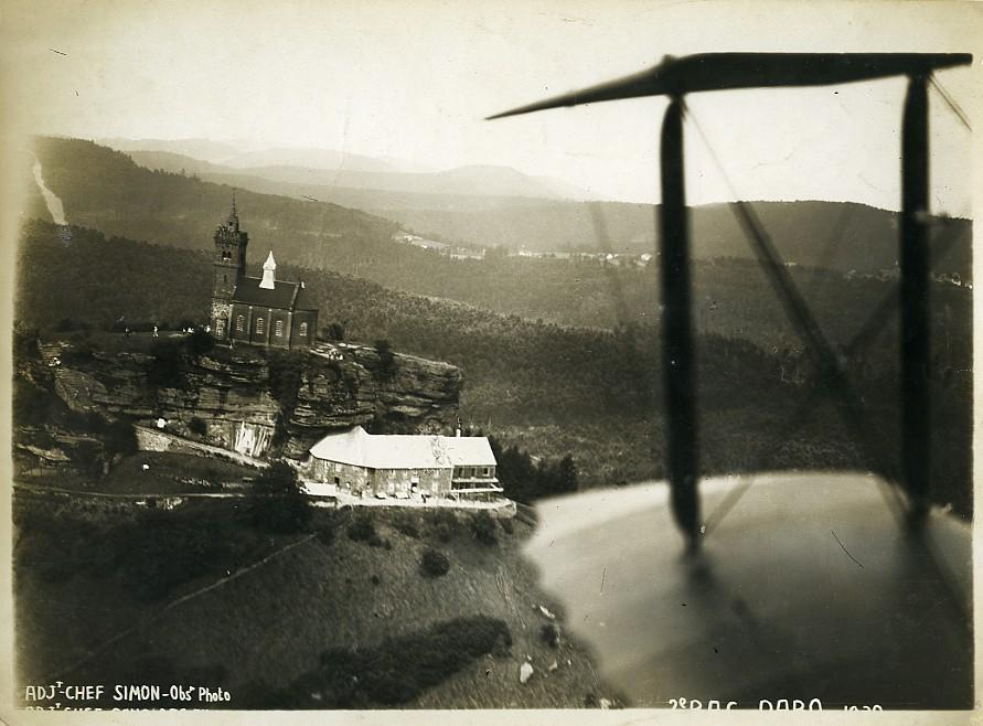 France_Alsace_Panorama_Rocher_de_Dabo_the_rock_Old_Aerial_Military_Photo_1930____