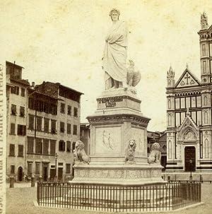 Italy Florence Firenze Dante Statue Old Giorgio: Giorgio SOMMER