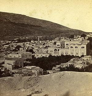 Palestine Nablus Panorama Mount Ebal Neapolis Old: Felix BONFILS